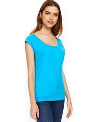 Wallis - Turquoise Top - Lyst