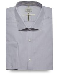 Racing Green - Big And Tall Light Grey Tailored Fit Shirt - Lyst