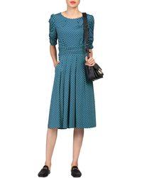 Jolie Moi - Flared Puff Sleeve Midi Dress - Lyst