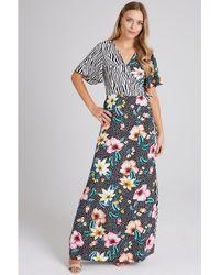 61f8017a0e5cdd Girls On Film - Multicoloured Clarity Mixed-print Wrap Maxi Dress - Lyst