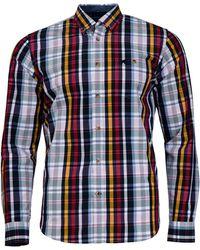 Raging Bull - Green Large Check Shirt - Lyst