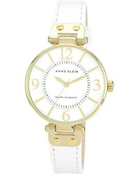 Anne Klein - Ladies White Leather Strap Watch 10/n9168wtwt - Lyst