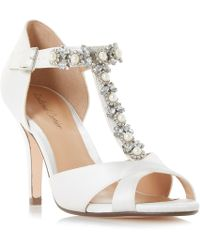 4ce91a11cb Roland Cartier - Ivory Satin 'maddalyn' High Stiletto Heel Court Shoes -  Lyst