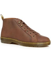 Dr. Martens - Brown Leather 'coburg' Lace Up Boots - Lyst