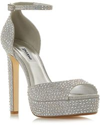 dcf8ee81762d Dune - Silver  manhatan  High Platform Sandals - Lyst