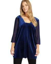 Studio 8 - Sizes 12-26 Midnight Jessica Top - Lyst