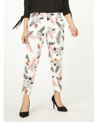 Dorothy Perkins - Petite Multi Coloured Tropical Print Pique Trousers - Lyst