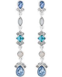 Jenny Packham - Designer Crystal Cluster Earrings - Lyst