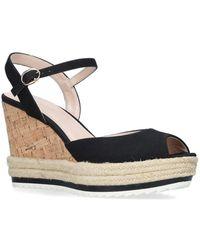 Nine West - Black 'debi' High Heel Wedge Sandals - Lyst