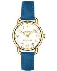 COACH - Ladies Blue 'delancey' Watch - Lyst