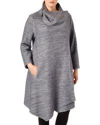 Studio 8 - Sizes 16-24 Silver Wendy Bellona Coat - Lyst