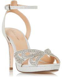 Roland Cartier - Silver 'mika' High Stiletto Heel Ankle Strap Sandals - Lyst