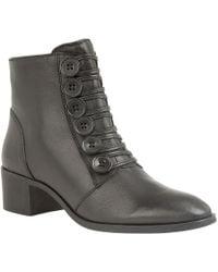 Lotus - Black 'meric' Mid Block Heel Ankle Boots - Lyst