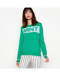 House of Holland - Green Mint Slogan Jumper - Lyst