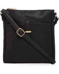 Kangol - Black Leatherette Cross Body Bag - Lyst