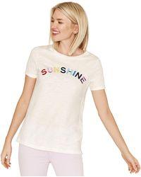 Oasis - White Sunshine T-shirt - Lyst