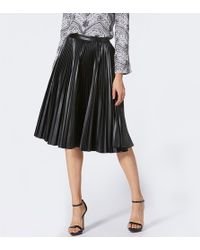 033be08466 Victoria Beckham Nwot Black Multi Printed Sunray Pleated Skirt in ...
