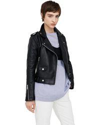 Mango - Black 'j Liz' Biker Jacket - Lyst