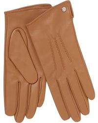 J By Jasper Conran - Camel 3 Point Leather Gloves - Lyst