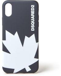 DSquared² Leaf Telefoonhoes Voor Iphone X - Zwart