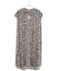Madewell Morningside Shiftdress in Leopard Sketch black - Lyst