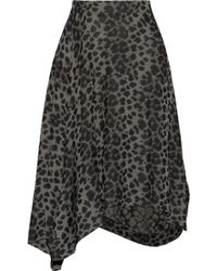 Vivienne Westwood Anglomania Prosperity Leopard-jacquard Midi Skirt - Lyst