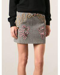 Stella McCartney Black Flynn Skirt - Lyst