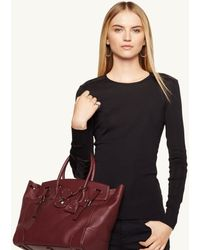Ralph Lauren Black Label Leathertrim Regina Top - Lyst
