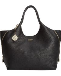 DKNY Tribeca Leather Zip Tote - Lyst