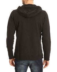 Diesel Sorbet Black Sweater with Zipped Hood - Lyst