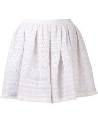 Sea Pleated Skirt - Lyst