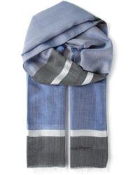 Ferragamo Striped Scarf - Lyst