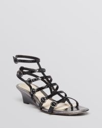 Elie Tahari - Open Toe Gladiator Wedge Sandals - Troy - Lyst