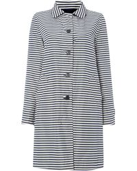 Max Mara Destino Reversible Striped Mac - Lyst
