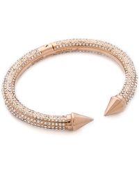Vita Fede Mini Titan Allover Crystal Bracelet Rose Goldclear - Lyst