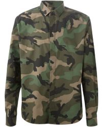 Valentino Green Camouflage Shirt - Lyst