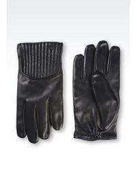 Emporio Armani | Napa Leather Glove | Lyst