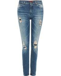 HUGO - 'gilla' | Stretch Cotton Fitted Boyfriend Jeans - Lyst