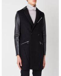 99% Is - Contrast Sleeve Coat - Lyst