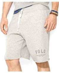 Ralph Lauren Polo Fleece Drawstring Shorts - Lyst