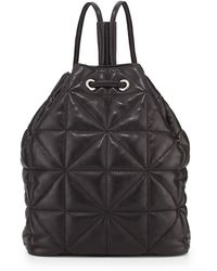Milly Avery Quilted Lambskin Backpack Black - Lyst