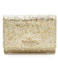 Kate Spade   Glitter Bug Darla Wallet - Gold/silver   Lyst