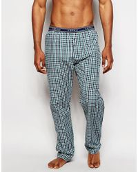 Esprit - Regular Fit Woven Lounge Pants In Check - Lyst