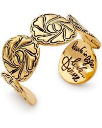 Diane von Furstenberg Compass Heart Cuff Bracelet - Lyst