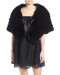Tasha Tarno - Genuine Blue Fox Fur Shrug - Lyst