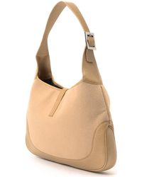 Gucci Felt Shoulder Bag beige - Lyst