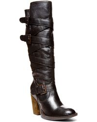 Steve Madden Renegaid Leather Knee-High Boots - Lyst
