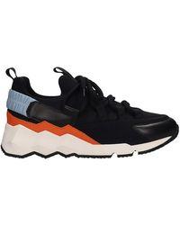 Pierre Hardy - Sneakers Trek comet in pelle nera - Lyst