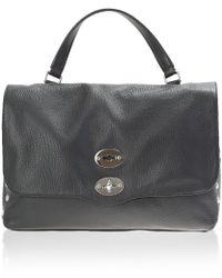 Zanellato | Black Leather Postina Medium Bag | Lyst