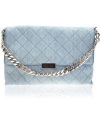 082790b26f83 Stella McCartney - Blue Denim Quilted Beckett Bag - Lyst